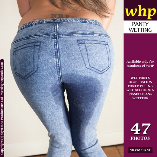 Natalia - `Wets Her Skin Tight Jeans` - by Skymouse for WETTINGHERPANTIES