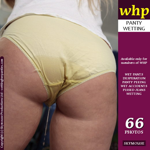 Sky - `Wet Yellow Panties` - by Skymouse for WETTINGHERPANTIES