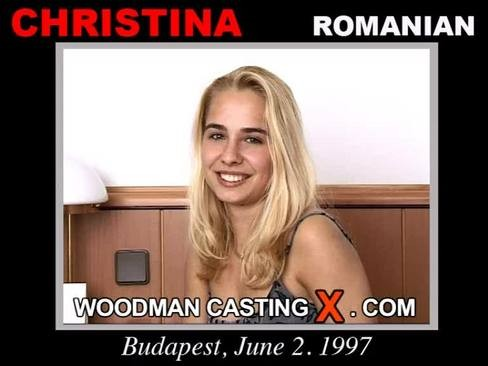Christina - `Christina casting` - by Pierre Woodman for WOODMANCASTINGX
