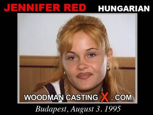 Jennifer Red - `Jennifer Red casting` - by Pierre Woodman for WOODMANCASTINGX