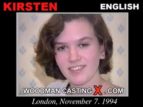 Kirsten - `Kirsten casting` - by Pierre Woodman for WOODMANCASTINGX