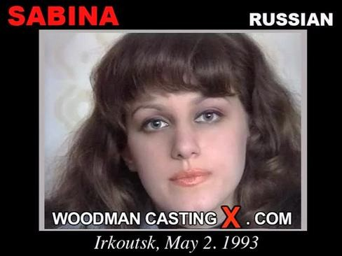 Sabina - `Sabina casting` - by Pierre Woodman for WOODMANCASTINGX