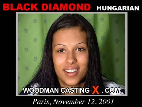 Black Diamond - `Black Diamond casting` - by Pierre Woodman for WOODMANCASTINGX