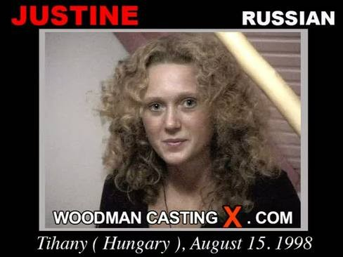 Justine - `Justine casting` - by Pierre Woodman for WOODMANCASTINGX