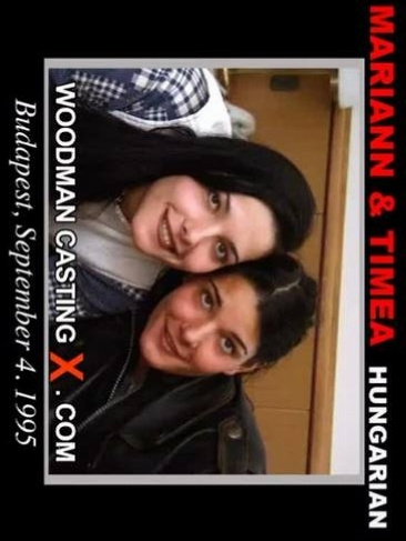 Mariann & Timea - `Mariann & Timea casting` - by Pierre Woodman for WOODMANCASTINGX