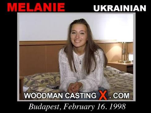 Melanie - `Melanie casting` - by Pierre Woodman for WOODMANCASTINGX