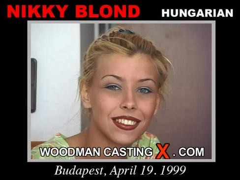 Nikky Blond - `Nikky Blond casting` - by Pierre Woodman for WOODMANCASTINGX