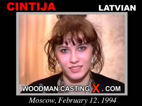 Cintija - `Cintija casting` - by Pierre Woodman for WOODMANCASTINGX