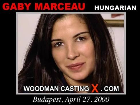 Gaby Marceau - `Gaby Marceau casting` - by Pierre Woodman for WOODMANCASTINGX