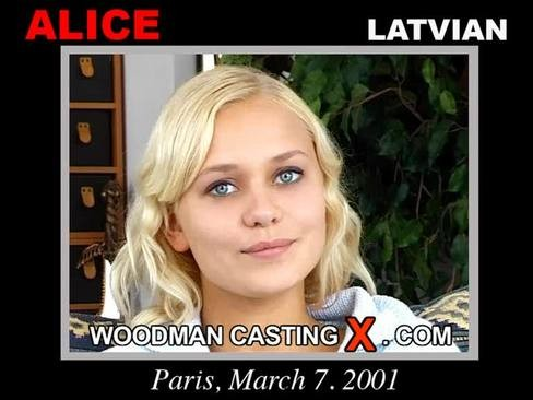 Alice - `Alice casting` - by Pierre Woodman for WOODMANCASTINGX