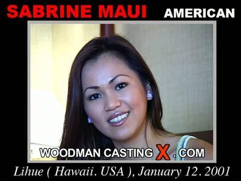 Sabrine Maui - `Sabrine Maui casting` - by Pierre Woodman for WOODMANCASTINGX