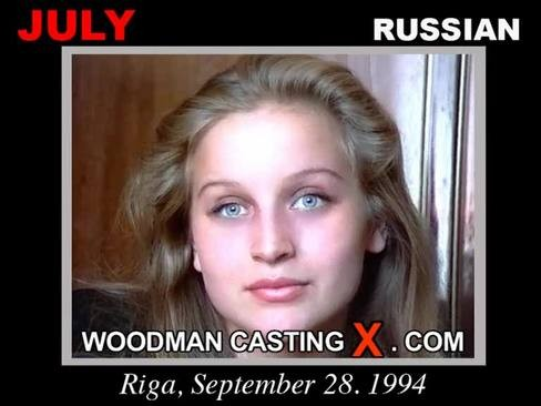 July - `July casting` - by Pierre Woodman for WOODMANCASTINGX