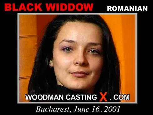 Black Widdow - `Black Widdow casting` - by Pierre Woodman for WOODMANCASTINGX