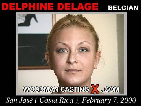 Delphine Delage - `Delphine Delage casting` - by Pierre Woodman for WOODMANCASTINGX