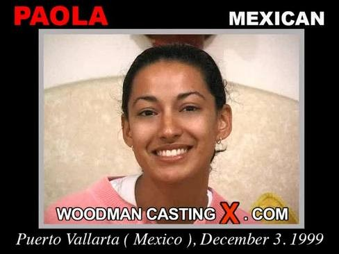 Paola - `Paola casting` - by Pierre Woodman for WOODMANCASTINGX