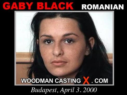 Gaby Black - `Gaby Black casting` - by Pierre Woodman for WOODMANCASTINGX