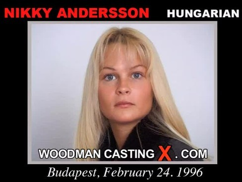 Nikky Andersson - `Nikky Andersson casting` - by Pierre Woodman for WOODMANCASTINGX