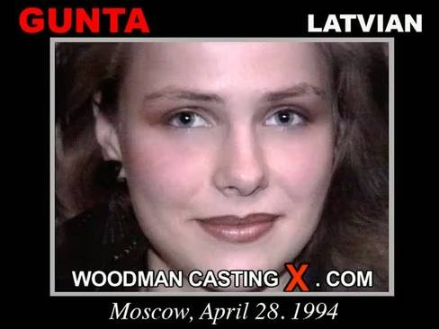 Gunta - `Gunta casting` - by Pierre Woodman for WOODMANCASTINGX