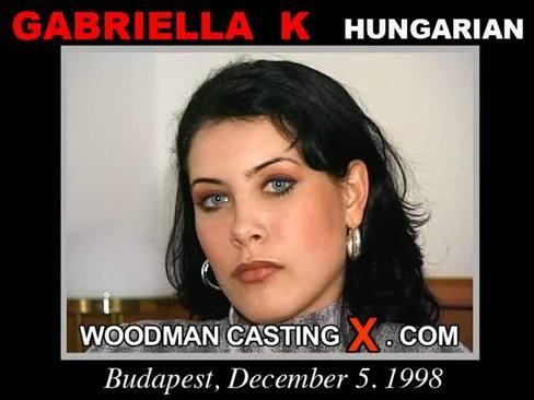 Gabriella K - `Gabriella K casting` - by Pierre Woodman for WOODMANCASTINGX