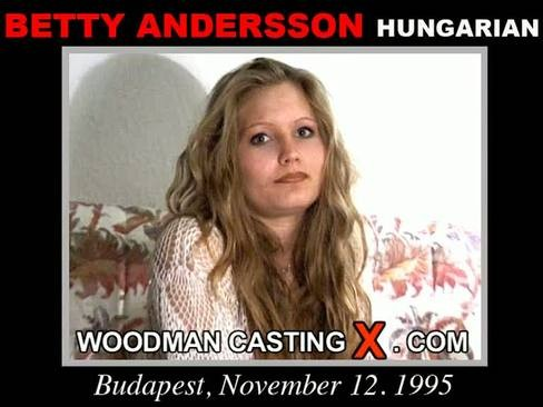 Betty Andersson - `Betty Andersson casting` - by Pierre Woodman for WOODMANCASTINGX