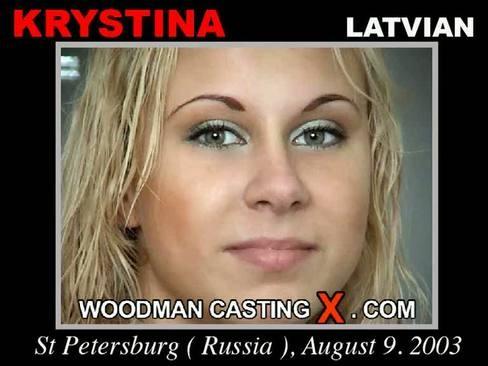 Krystina - `Krystina casting` - by Pierre Woodman for WOODMANCASTINGX