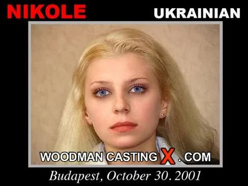 Nikole - `Nikole casting` - by Pierre Woodman for WOODMANCASTINGX