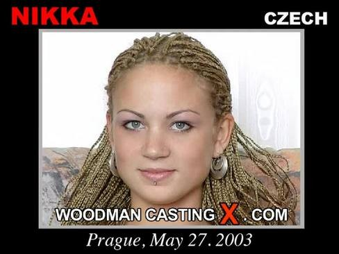 Nikka - `Nikka casting` - by Pierre Woodman for WOODMANCASTINGX