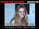 Sunrise Adams casting video from WOODMANCASTINGX by Pierre Woodman