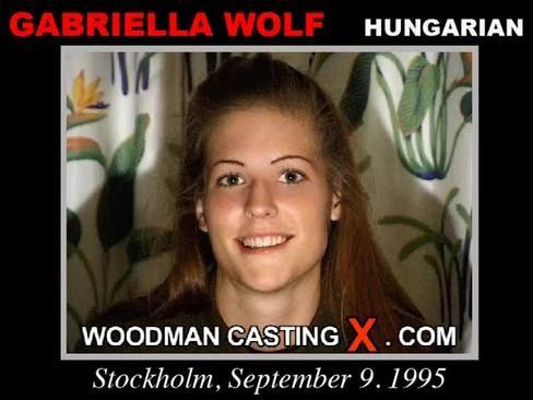 Gabriella Wolf - `Gabriella Wolf casting` - by Pierre Woodman for WOODMANCASTINGX