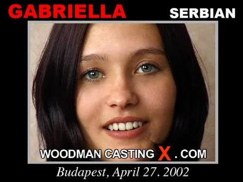 Gabriella - `Gabriella casting` - by Pierre Woodman for WOODMANCASTINGX