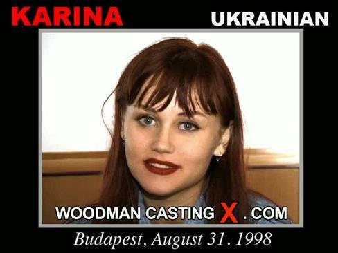 Karina - `Karina casting` - by Pierre Woodman for WOODMANCASTINGX