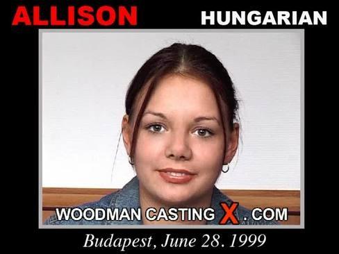 Allison - `Allison casting` - by Pierre Woodman for WOODMANCASTINGX