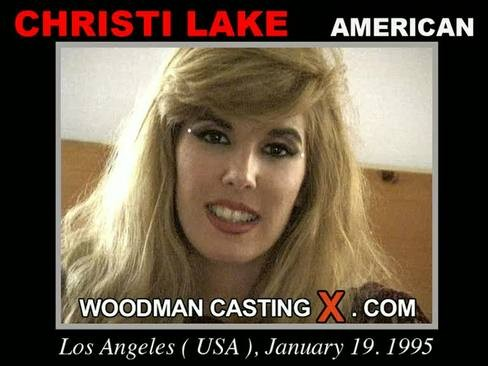 Christi Lake - `Christi Lake casting` - by Pierre Woodman for WOODMANCASTINGX