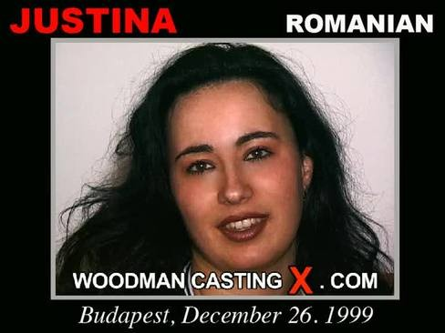 Justina - `Justina casting` - by Pierre Woodman for WOODMANCASTINGX