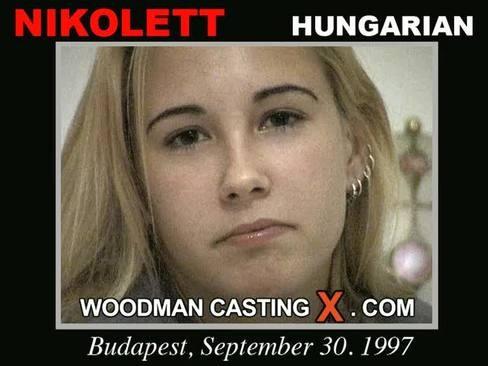 Nikolett - `Nikolett casting` - by Pierre Woodman for WOODMANCASTINGX
