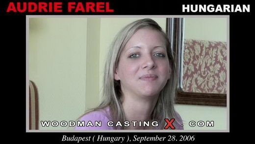 Audrie Farel - `Audrie Farel casting` - by Pierre Woodman for WOODMANCASTINGX