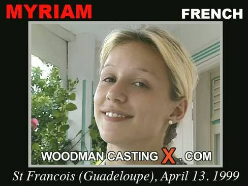 Myriam - `Myriam casting` - by Pierre Woodman for WOODMANCASTINGX