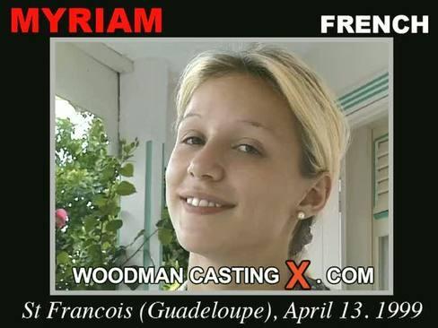 Myriam - `Myriam casting` - by Pierre Woodman for WOODMANCASTINGX