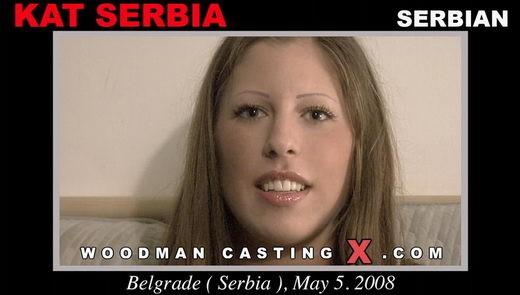 Kat Serbia - `Kat Serbia casting` - by Pierre Woodman for WOODMANCASTINGX