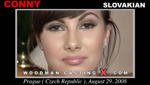 Conny - `Conny casting` - by Pierre Woodman for WOODMANCASTINGX