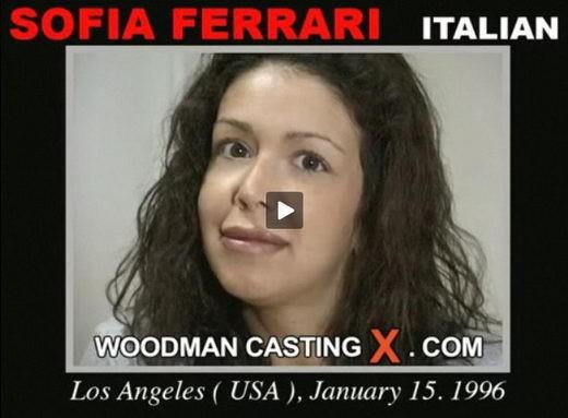 Sofia Ferrari - `Sofia Ferrari casting` - by Pierre Woodman for WOODMANCASTINGX