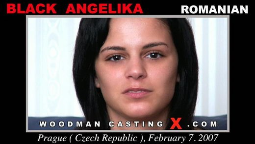 Black Angelika - `Black Angelika casting` - by Pierre Woodman for WOODMANCASTINGX