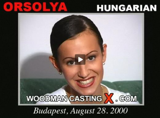 Orsolya - `Orsolya casting` - by Pierre Woodman for WOODMANCASTINGX