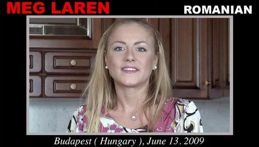Meg Laren - `Meg Laren casting` - by Pierre Woodman for WOODMANCASTINGX