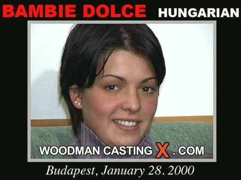 Bambie Dolce - `Bambie Dolce casting` - by Pierre Woodman for WOODMANCASTINGX