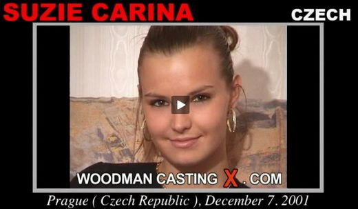 Suzie Carina - `Suzie Carina casting` - by Pierre Woodman for WOODMANCASTINGX