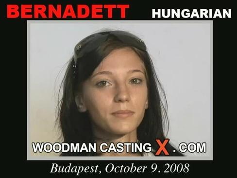 Bernadett - `Bernadett casting` - by Pierre Woodman for WOODMANCASTINGX