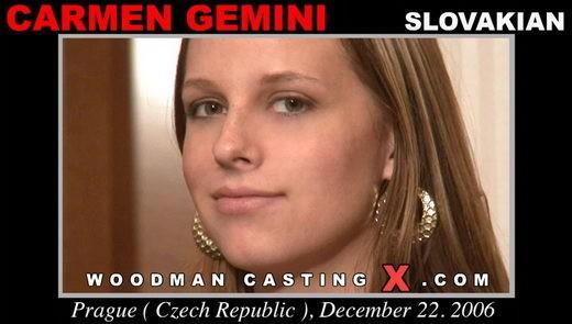 Carmen Gemini - `Carmen Gemini casting` - by Pierre Woodman for WOODMANCASTINGX