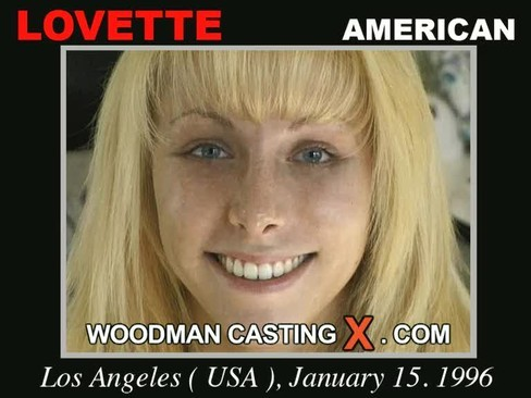 Lovette - `Lovette casting` - by Pierre Woodman for WOODMANCASTINGX