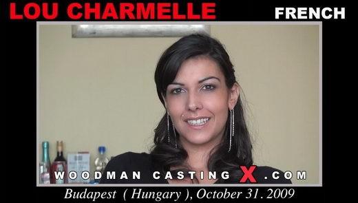 Lou Charmelle - `Lou Charmelle casting` - by Pierre Woodman for WOODMANCASTINGX